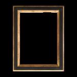 Cadre Louis XVI plat Noir et Or (4cm)
