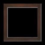 Cadre plat (4cm) teinté ébène